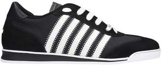 DSQUARED2 New Runner Sneakers In Black Suede And Leather
