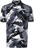 Dolce & Gabbana palm leaf print polo shirt - men - Cotton - 50