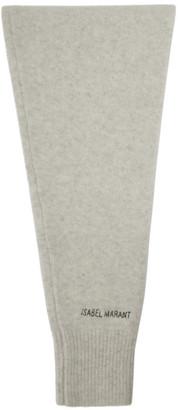 Isabel Marant Grey Wool Palana Scarf