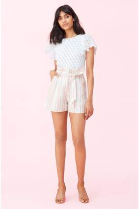 Rebecca Taylor Yarn Dyed Stripe Short
