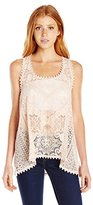 Eyeshadow Women's All Over Lace Sleeveless Top