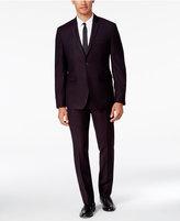 Perry Ellis Portfolio Men's Extra Slim-Fit Dark Burgundy Pindot Suit