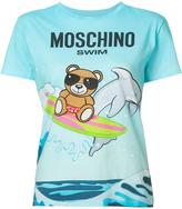 Moschino teddy and dolphin T-shirt - women - Cotton - L