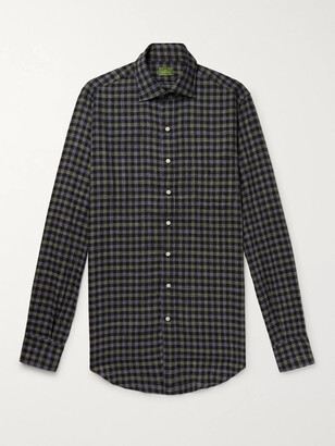 Sid Mashburn Slim-Fit Checked Cotton-Twill Shirt