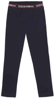 Dolce & Gabbana Kids Stretch-cotton leggings
