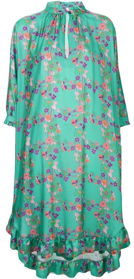 Kristina Ti floral print shift midi dress