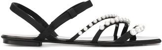 Pedro Garcia Pearl Embellished Sandals