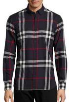 Burberry Ecclestone Plaid Button-Down Shirt