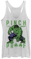 Fifth Sun Women's Tank Tops WHITE - Hulk White Heather 'Pinch Proof' Racerback Tank - Women & Juniors