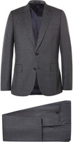 Paul Smith Grey Soho Slim-Fit Checked Wool Suit