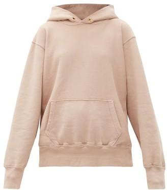 LES TIEN Brushed-back Cotton Hooded Sweatshirt - Light Pink