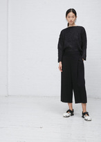 Issey Miyake black le pain wide leg pant