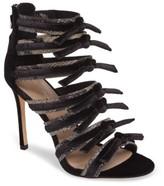 Pour La Victoire Women's Elsie Velvet & Snakeskin Strappy Sandal