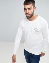 Jack Wills Bridgend Sweatshirt Lightweight Small Logo In White