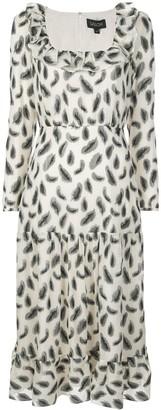 Saloni Abstract Print Maxi Dress