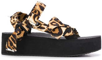 Arizona Love Animal-Print Platform Sandals