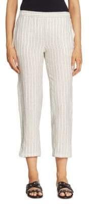 Theory Thorina Striped Linen Pants