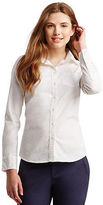 Aeropostale Womens Long Sleeve Solid Woven Shirt