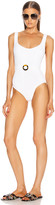 Hunza G Solitaire Swimsuit in White Nile | FWRD
