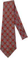 One Kings Lane Vintage Hermès Burgundy & Gray Silk Tie