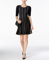 Sandra Darren Petite Fit & Flare Sweater Dress
