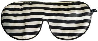 Not Just Pajama Striped Silk Eye Mask