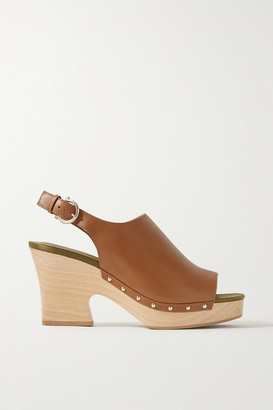 Salvatore Ferragamo Susanne Leather Slingback Sandals - Tan