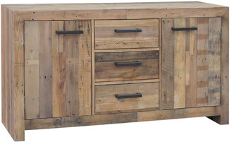 Classic Home By Kosas Home Norman Reclaimed Pine 3 Drawer 2 Door Buffet