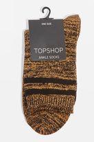 Topshop Glitter Marl Chunky Ankle Socks