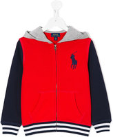 Ralph Lauren branded zip-up hoodie - kids - Cotton - 5 yrs
