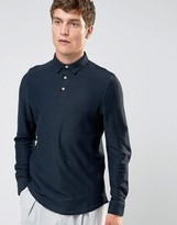 Selected Long Sleeve Twill Polo