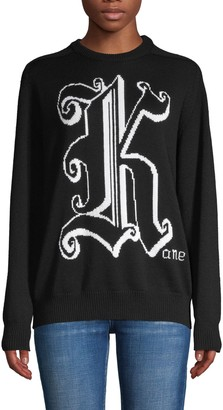 Christopher Kane Graphic Wool Sweater