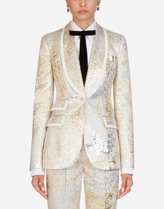 Dolce & Gabbana Single-Breasted Jacquard Jacket