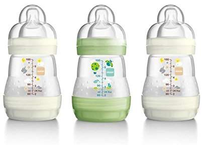 Mam Anti Colic Baby Bottle 160ml - Pack of 6