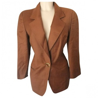 Genny Brown Wool Jacket for Women Vintage