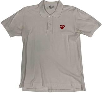 Play Comme Des Garã§Ons Play Comme Des GarAons White Cotton Polo shirts