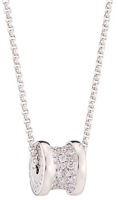 Bvlgari B.zero1 18K White Gold & Pave Diamond Necklace