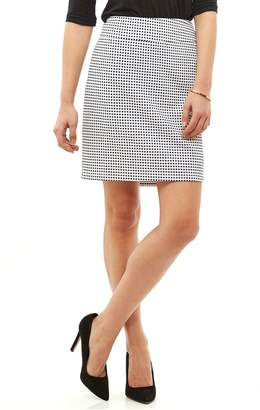Tribal Navy White Check Skirt