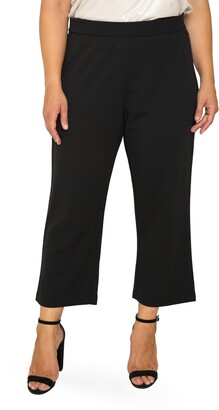 Standards & Practices High Waist Stretch Crepe Crop Pants