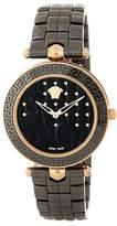 Versace Women's Vanitas Black Quilted Bracelet Watch, 40mm