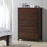 Shaker 5 Drawer Chest Grain Wood Furniture Color: Cherry