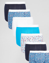 Asos Trunks 7 Pack With Ditsy Floral Print SAVE