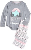 PJ Salvage Girl's Hoppy Camper Two-Piece Pajamas