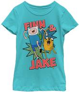Fifth Sun Tahi Blue 'Finn & Jake' Tee - Girls