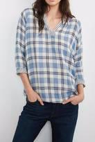 Velvet Plaid Shirt