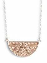 Anna Beck Women's Reversible Half Moon Pendant Necklace