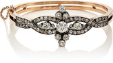 Stephanie Windsor Antiques Women's White Diamond Hinged Bangle