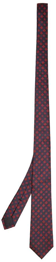 Gucci Bee and star-embroidered silk tie