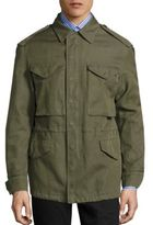 Burberry Tumbled Ramie Cotton Twill Field Jacket