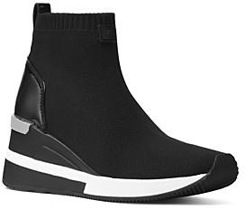 MICHAEL Michael Kors Women's Skyler Knit High Top Sneakers
